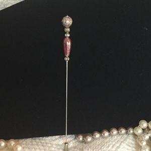 Jewelry - Vintage Style Hat Pin Mauve w/ Tip